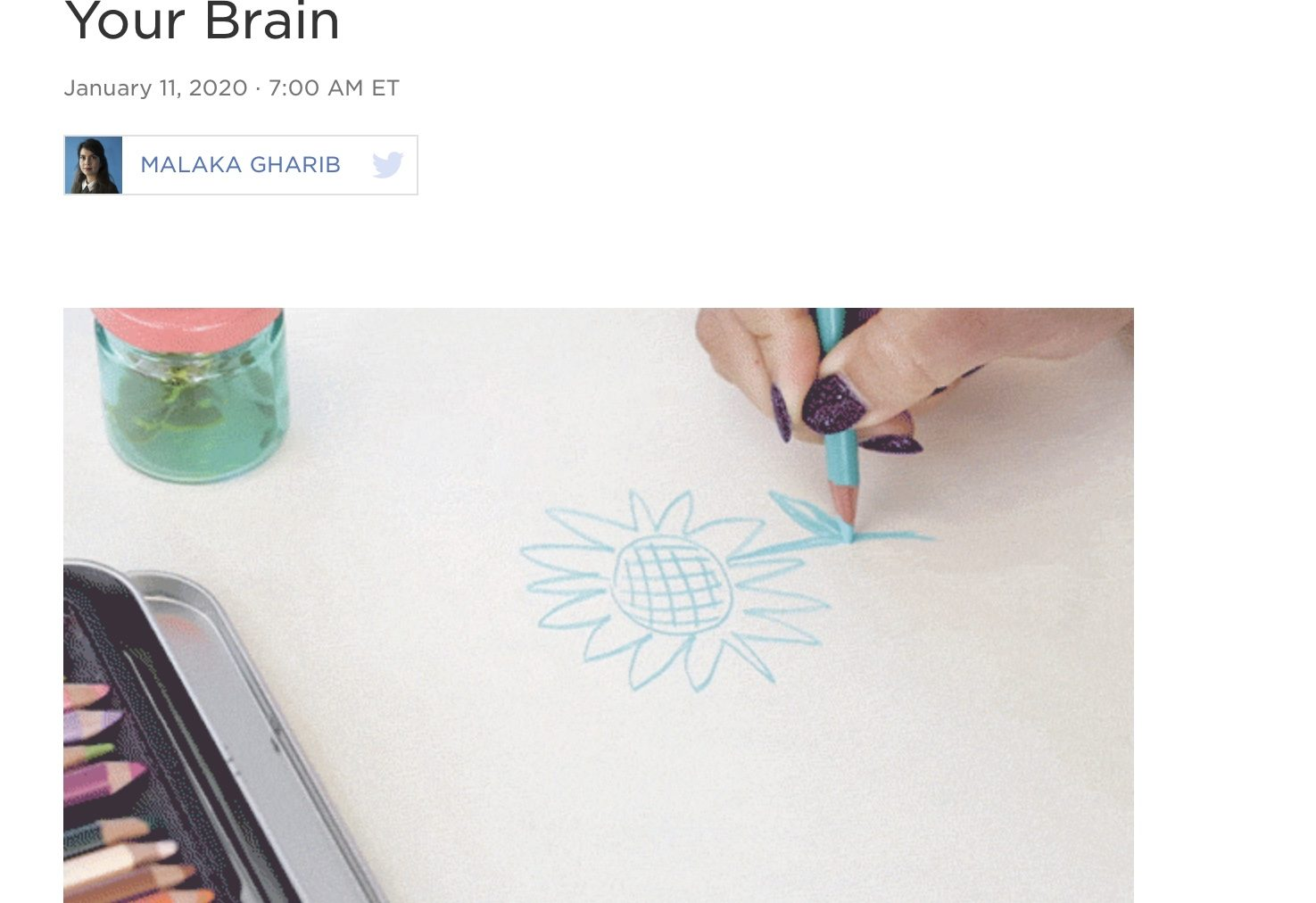 Feeling Artsy? Here's How Making Art Helps Your Brain  Malaka Gharib